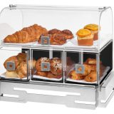 Baza pentru module Rosseto pentru expunere si servire patiserie sau paine, inox si acril