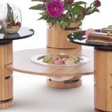 Blaturi din lemn sau acril, finisaje in tonuri ce se vor asorta perfect locatiei, format rotund, rectangular sau inelar