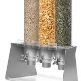 Dispenser cereale sau snacksuri, module de 2 3dispensere, diverse modele, baza inox, negru sau lemn