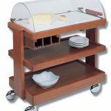 Saturno   capac rolltop, 99 x 48 x 104 cm, 3 rafturi, optional compartiment pentru tacamuri, finisaj acaju, aluna sau stejar