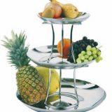 Fructiere inox, doua sau trei nivele
