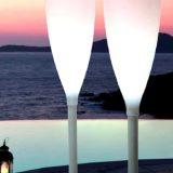 Flute, decoratiuni luminoase, inaltime 182cm, diametru 42cm, special gandite si construite pentru exterior