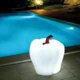 Peperone, decoratiuni iluminate pentru piscine si terase, forma neregulata