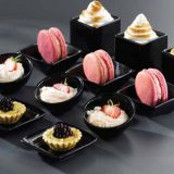 Boluri din portelan pentru deserturi, mini prajituri etc Culoare negru, diferite dimensiuni