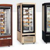 Florida, vitrine frigorifice, expunere si prezentare prajituri, torturi, inghetata, numar variabil de rafturi, structura lemn masiv nuc, stejar, alb, negru, rosu,