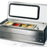 Fresh Magic Pro 100, stand expunere si servire inghetata, tavi GN, 3 vaschete a 3litri