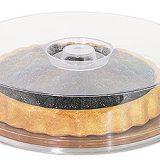 Tava din inox pentru prajituri, capac din material plastic, Disponibila in diferite forme si dimensiuni
