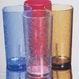 Del mar Tumblere, aspect sticla fisurata, diverse culori