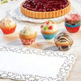 Hartie dantelata pentru prajituri, disponibila in diferite culori, forme si dimensiuni