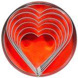 Heart, cutite de taiere diferite dimensiuni, set complet, include si forma pentru copt