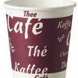 Pahare unica folosinta pentru bauturi calde, imprimat Coffee Tea, capacitate 100 si 200 ml