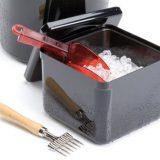 Cutie pentru pastrarea cuburilor de gheata, peretii din material plastic pastreaza temperatura scazuta pentru un timp indelungat