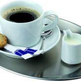 Tava servire cafea, inox