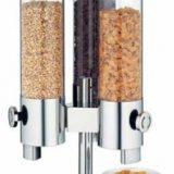 Basic   dispenser cereale, sticla si inox, trei containere a 3,5 litri