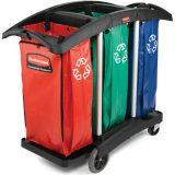 Carucioare pentru colectarea deseurilor reciclabile, saci de colectare colorati standard in functie de materialul colectat