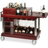 Carucior pentru vin si bar, zona refrigerata, permite pastrarea sticlelor, depozitare pahere, ideal pentru servire