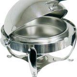 Chafing dish Premium, rotund sau dreptunghiular, capac roll top