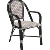 Demoiselle, scaun terasa din aluminiu lacuit, imbracaminte tesatura Wicker