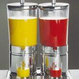 Duo Top Fresh   juice dispenser, inox si sticla, elemente de racire, 2 dispensere a 6 litri