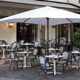 Easy Open, umbrela terasa, 4x4 metri, aluminiu vopsit, culori diverse pentru o asortare perfecta cu locatia si mobilierul terasei