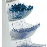 Expozitor pliculete zahar, cutiute lapte sau alte produse ambalate individual