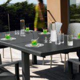 Ineo, set pentru terasa, metal, imbracaminte din plastic intretesut, antracit