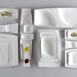 Mazza   linie completa din portelan, forme intrepatrunse armonios ce se vor aseza perfect pe blatul bufetului sau in mana clientilor