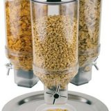 Rotation   dispenser cereale inox, trei dispensere rotative, capacitate 4,5 litri