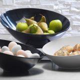 Sheer Bowls   boluri servire, linii simple, perfecte, finisaj alb portelan sau negru