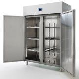 Side by side   volum 1400L, poate fi folosit ca frigider ( 5 la +10C ) sau congelator ( 18 la  25C)