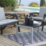 Sunday Bas, set pentru terasa, aluminiu, scaune cu perne din panza, diverse culori
