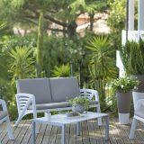 Sunday, set pentru terasa, aluminiu, scaune cu perne din panza, diverse culori