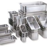 Tavi (vaschete) GastroNorm inox, toate dimensiunile GN standard, cu sau fara capace, perforate sau nu