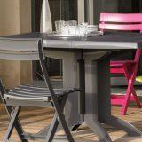 Vega, masa si scaune terasa, culori diverse