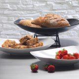 Zest Platters   farfurii pentru bufet, linii simple, perfecte, finisaj alb portelan sau negru