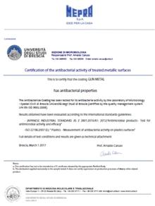Mepra Antibacterial Certificates